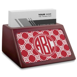 Celtic Knot Red Mahogany Business Card Holder (Personalized)
