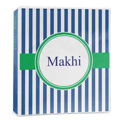 Stripes 3-Ring Binder - 1 inch (Personalized)
