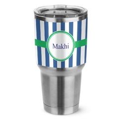 Stripes Stainless Steel Tumbler - 30 oz (Personalized)