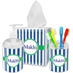 Stripes Bathroom Accessories Set (Personalized)