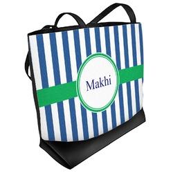 Stripes Beach Tote Bag (Personalized)