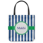 Stripes Canvas Tote Bag (Personalized)