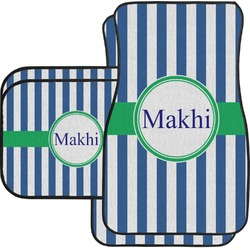 Stripes Car Floor Mats Set - 2 Front & 2 Back (Personalized)