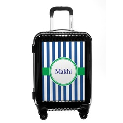 Stripes Carry On Hard Shell Suitcase (Personalized)
