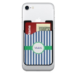 Stripes 2-in-1 Cell Phone Credit Card Holder & Screen Cleaner (Personalized)