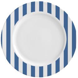 Stripes Ceramic Dinner Plates (Set of 4) (Personalized)