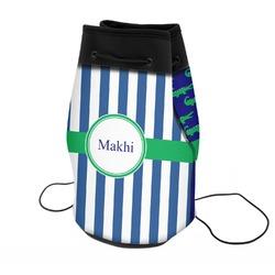 Stripes Neoprene Drawstring Backpack (Personalized)