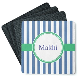 Stripes 4 Square Coasters - Rubber Backed (Personalized)