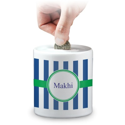 Stripes Coin Bank (Personalized)
