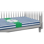 Stripes Crib Fitted Sheet (Personalized)
