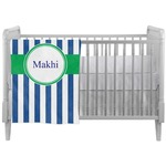 Stripes Crib Comforter / Quilt (Personalized)