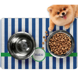 Stripes Dog Food Mat - Small w/ Name or Text