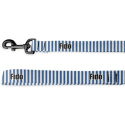 Stripes Deluxe Dog Leash - 4 ft (Personalized)