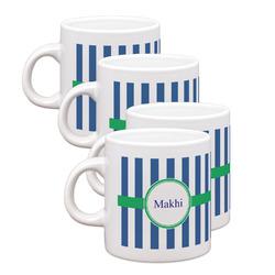 Stripes Espresso Mugs - Set of 4 (Personalized)