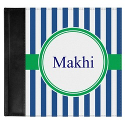 Stripes Genuine Leather Baby Memory Book (Personalized)