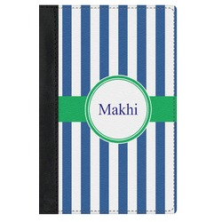 Stripes Genuine Leather Passport Cover (Personalized)