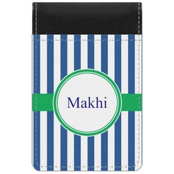 Stripes Genuine Leather Small Memo Pad (Personalized)