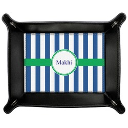 Stripes Genuine Leather Valet Tray (Personalized)