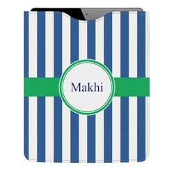 Stripes Genuine Leather iPad Sleeve (Personalized)