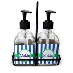 Stripes Glass Soap & Lotion Bottles (Personalized)
