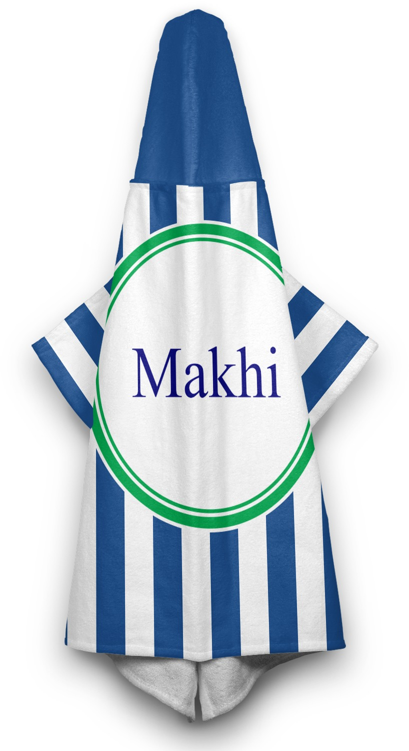 Stripes Hooded Towel Personalized Youcustomizeit