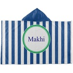 Stripes Kids Hooded Towel (Personalized)