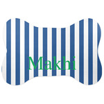 Stripes Bone Shaped Dog Food Mat (Personalized)