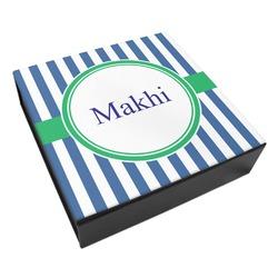 Stripes Leatherette Keepsake Box - 3 Sizes (Personalized)