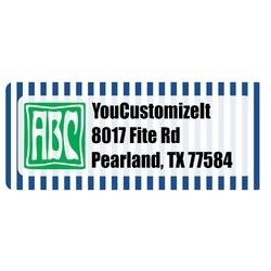 Stripes Return Address Labels (Personalized)