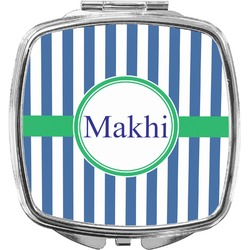 Stripes Compact Makeup Mirror (Personalized)