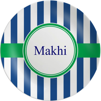 Stripes Melamine Plate (Personalized)