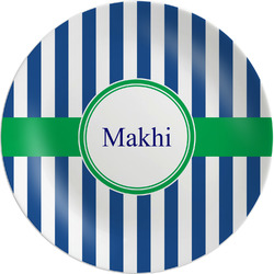 "Stripes Melamine Plate - 10"" (Personalized)"