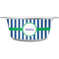 Stripes Stainless Steel Pet Bowl (Personalized)