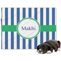 Stripes Minky Dog Blanket - Large  (Personalized)