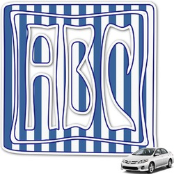 Stripes Monogram Car Decal (Personalized)