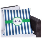 Stripes Outdoor Pillow (Personalized)