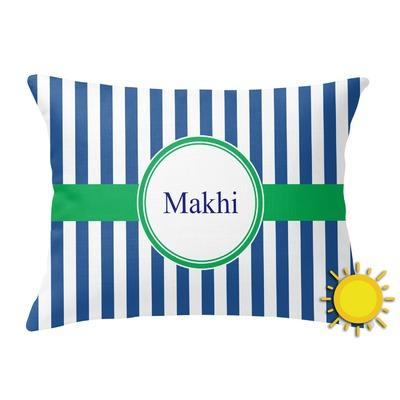 Stripes Outdoor Throw Pillow (Rectangular) (Personalized)
