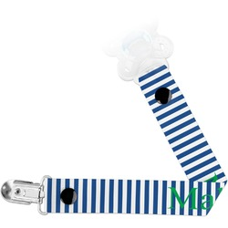 Stripes Pacifier Clips (Personalized)