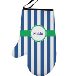 Stripes Left Oven Mitt (Personalized)