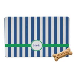 Stripes Pet Bowl Mat (Personalized)