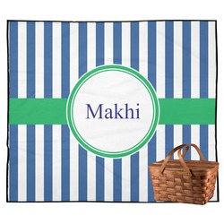 Stripes Outdoor Picnic Blanket (Personalized)