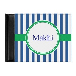 Stripes Genuine Leather Guest Book (Personalized)