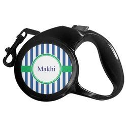 Stripes Retractable Dog Leash - Multiple Sizes (Personalized)