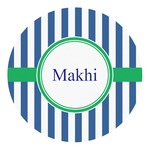 Stripes Round Decal (Personalized)