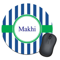 Stripes Round Mouse Pad (Personalized)