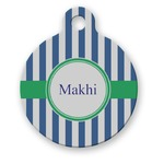 Stripes Round Pet Tag (Personalized)