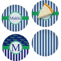 Stripes Set of Appetizer / Dessert Plates (Personalized)