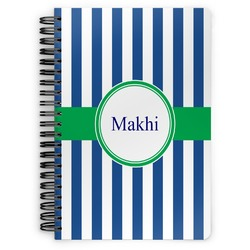 Stripes Spiral Bound Notebook (Personalized)