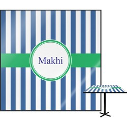 """Stripes Square Table Top - 24"""" (Personalized)"""