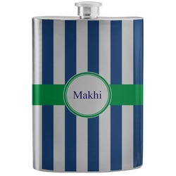 Stripes Stainless Steel Flask (Personalized)